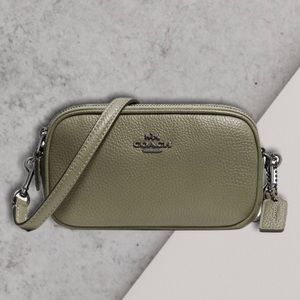 Coach Pebbled leather Crossbody